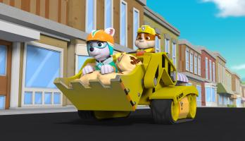 Paw Patrol - S5E15 - Rocky Saves Himself/Pups and the Mystery of the Driverless Snow Cat